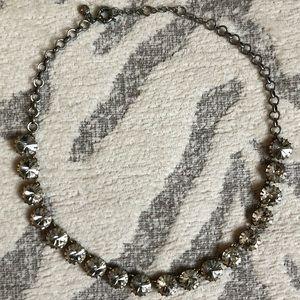 J.Crew Brass & Crystal Venus Flytrap Necklace